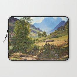 12,000pixel-500dpi - Friedrich Loos - The Ramsau near Berchtesgaden - Digital Remastered Edition Laptop Sleeve