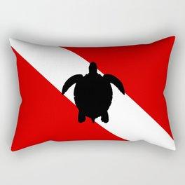 Diving Flag: Sea Turtle Rectangular Pillow