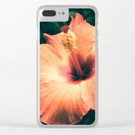 Hibiscus in the bloom Clear iPhone Case