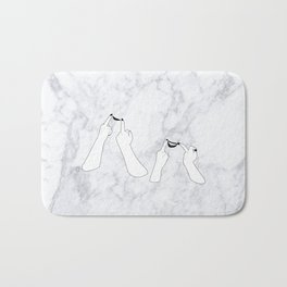 You girls are so pretty, you should smile Marble Bath Mat
