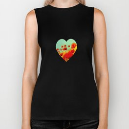 FLOWERS - Poppy time Biker Tank