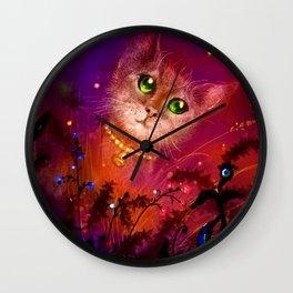 Night Cat 1 Wall Clock