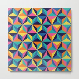 Sunset Triangles Metal Print