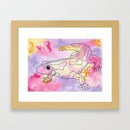 Colorful Salamander Framed Art Print