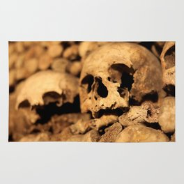 Skulls in the catacombs of Paris, France. Rug
