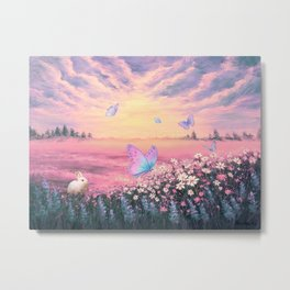 Somewhere Between Earth and Heaven Metal Print