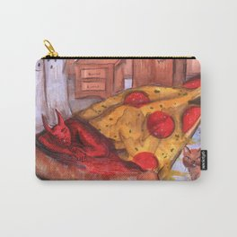devil in pizza Carry-All Pouch