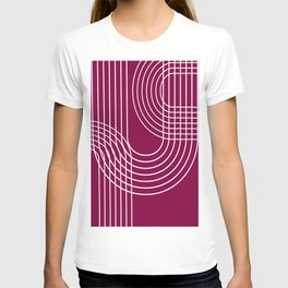 Minimalist Lines & Red BG T-shirt
