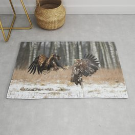 White-Tailed Eagle fight Rug