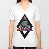 supernatural V-neck T-shirts featuring Supernatural by Spooky Dooky
