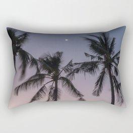 Crescent Moon Over Dauin Rectangular Pillow