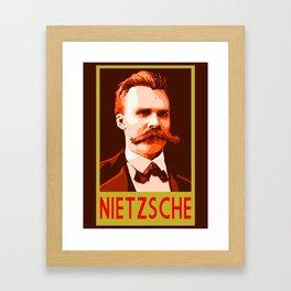 Philosophers of Note - Nietzsche Framed Art Print