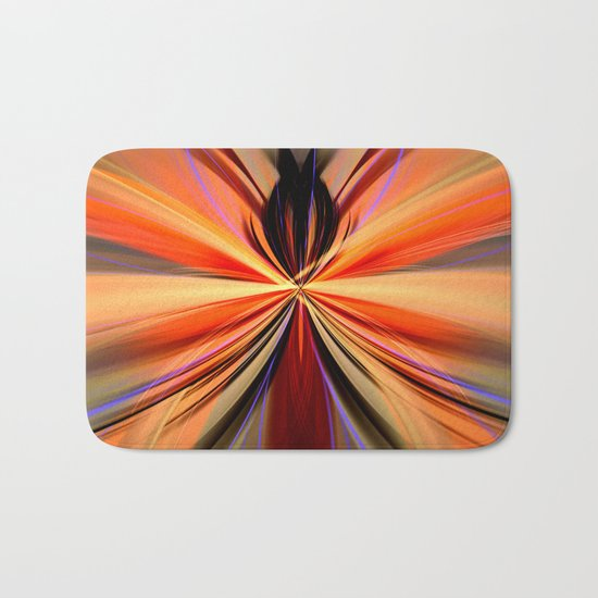 Artistic colourful abstract butterfly Bath Mat