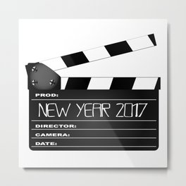 New Year 2017 Clapperboard Metal Print