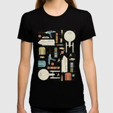To Boldly Go... Womens Fitted Tee Black SMALL