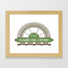 Café gare de Lion Framed Art Print