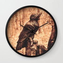 Raven (Slavanic paganism) Wall Clock
