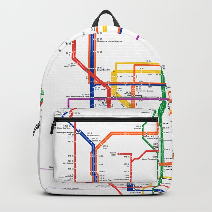 Washington Heights Subway Map.New York City Subway Map Backpack By Igorsin