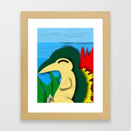 Cyndaquil Cutout Framed Art Print