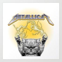 Metal Cat Art Print