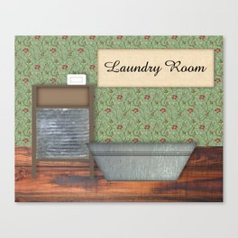 Vintage Laundry Room Canvas Print