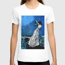 She lived almost alone in a sea of storms. T-shirt
