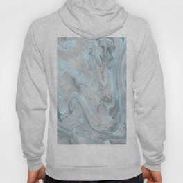 Ice Blue and Gray Marble Hoody