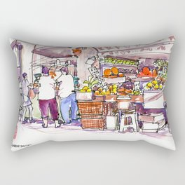 20170309a Chinatown Fruitseller Rectangular Pillow