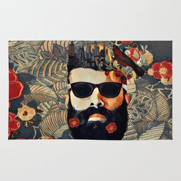 Beard and glasses Rug