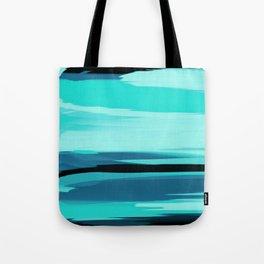 Soft Determination Aquamarine Tote Bag