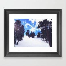 Snow Landscape  Framed Art Print
