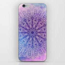 big paisley mandala in light purple iPhone Skin