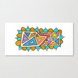 TRIANGULOS-TRIANGLES Canvas Print