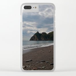SICILIAN Beach of Forza d'Agro - location of The Godfather Clear iPhone Case