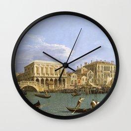 Canaletto - View of the Riva degli Schiavoni, Venice Wall Clock