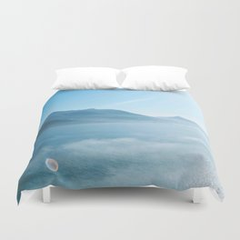Mountains and ocean Duvet Cover