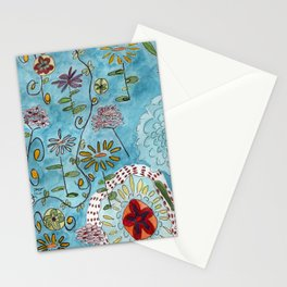 blue toile by cocoblue Stationery Cards