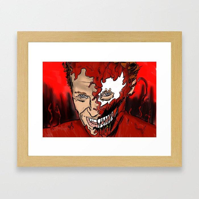 Carnage Dafoe Framed Art Print