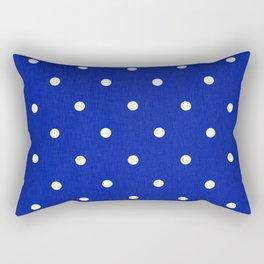 Dotty Blue Rectangular Pillow
