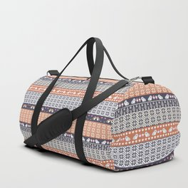 Fair Isle Christmas Guinea pig Pattern Duffle Bag