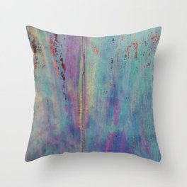 Abstract vintage colored wood Throw Pillow