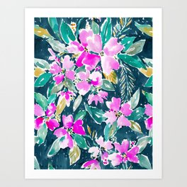 SUP DAWG Dogwood Floral Art Print