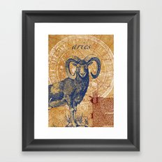 aries | widder Framed Art Print