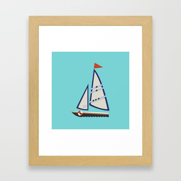 Sailboat I Framed Art Print
