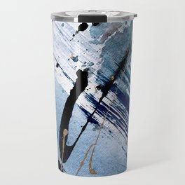 Breathe [2]: colorful abstract in black, blue, purple, gold and white Travel Mug