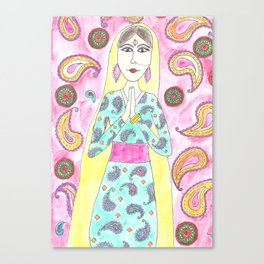 Meditation time Canvas Print