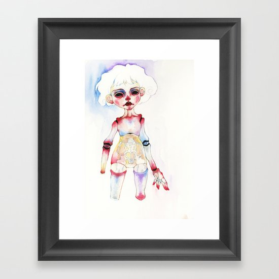 Ball-joined doll Framed Art Print