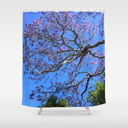 Blue Jacaranda 1/3 Shower Curtain