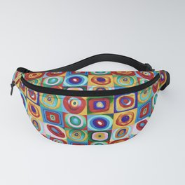Colorful circles tile Fanny Pack