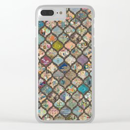 vintage lanterns on charcoal Clear iPhone Case